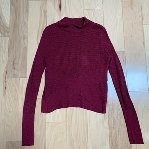 Free People Pink Long Sleeve Sweater